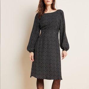 NWT Anthro Agatha Polka Dot Open Back Midi Dress 6